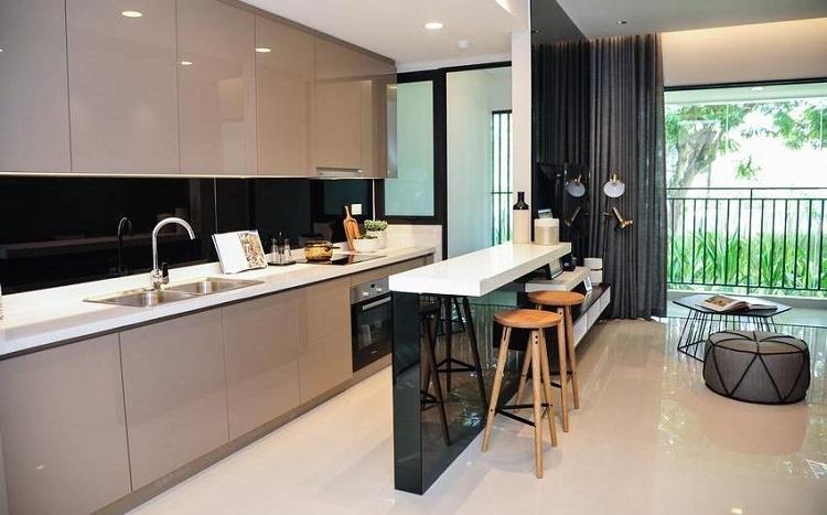 Phòng bếp căn hộ mẫu dự án The View Riviera Point