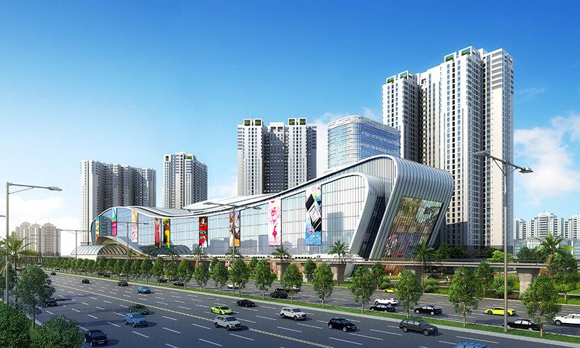 Phối cảnh khu trung tâm thương mại Vincom Mega Mall Thảo Điền.